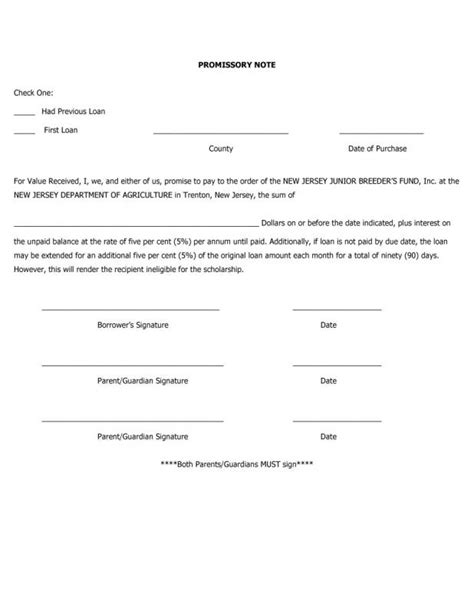 free printable promissory note template free promissory note template template business