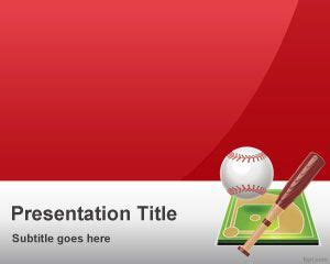 red baseball powerpoint template ppt template