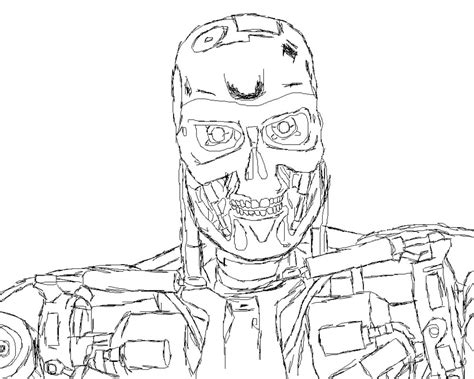 terminator sketch by the dalek supreme on deviantart