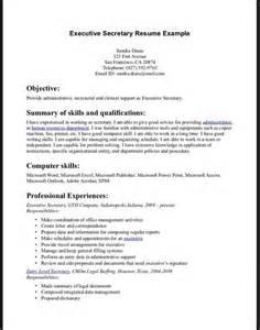 example resume for executive secretary