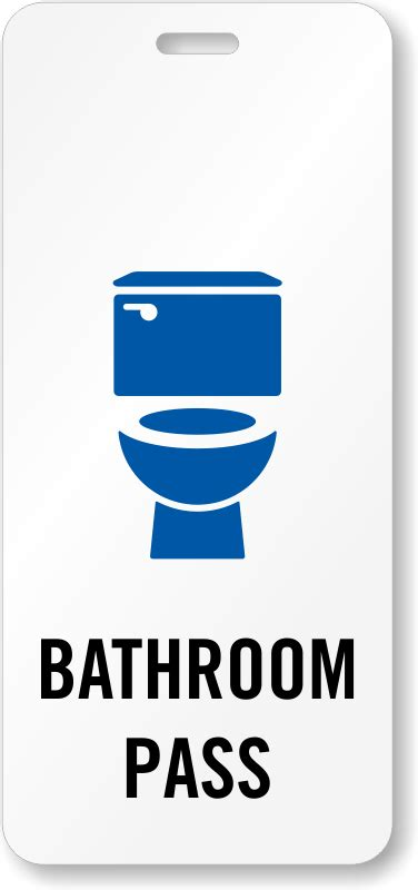 School hall passes bathroom passes for schools