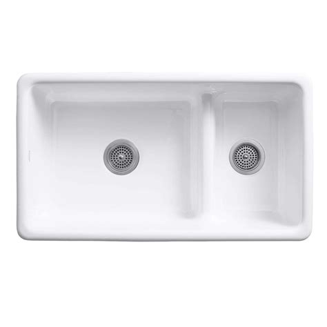 kohler smart divide sink kohler iron tones 6625 smart divide cast iron sink