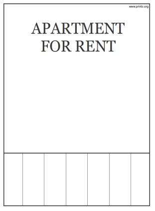 Apartment For Rent Flyer Template room for rent flyer
