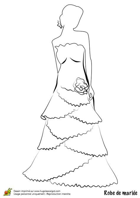 Coloriage Robe de Mariée Tralala