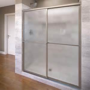 basco sliding shower doors basco deluxe 54 in x 71 1 2 in framed sliding shower