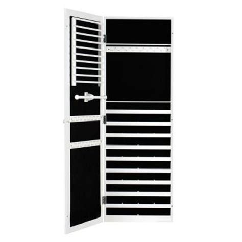 white wall mounted jewelry armoire home decorators collection oxford wall mount jewelry