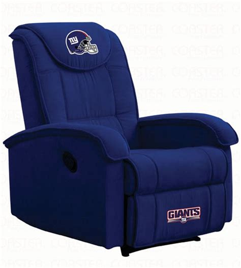 nfl recliner nfl teams giants recliner by coaster 891gnts