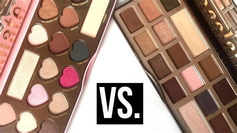 Faced Chocolate faced chocolate bar vs bon bons palette comparison