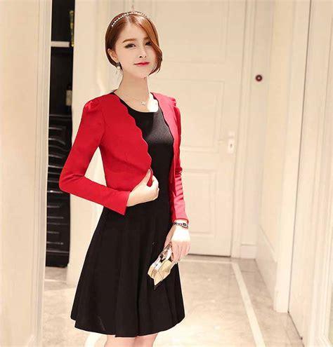 Dress Hitam Merah dress wanita hitam merah blazer terbaru jual model