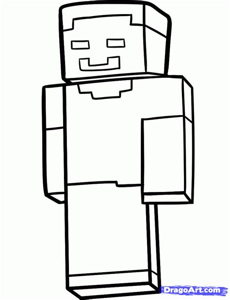 how to draw herobrine herobrine step by step video game
