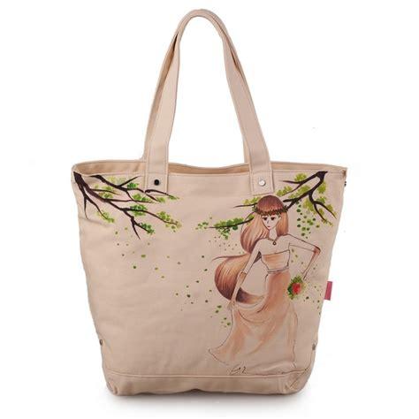 Harga Tas Jansport Yang Asli wanita tas wanita dilukis tangan rekreasi tas kain kanvas bahu baru paket tas cetak harga