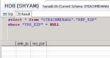 sql script tutorial sap hana complete sap hana sql script tutorial 6 9 sql null and not