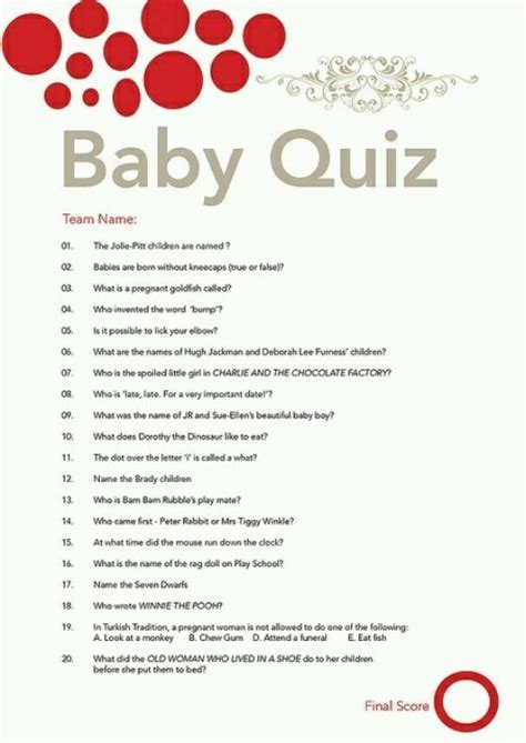 printable quiz for baby shower baby quiz sailor boy party pinterest babies and quizes