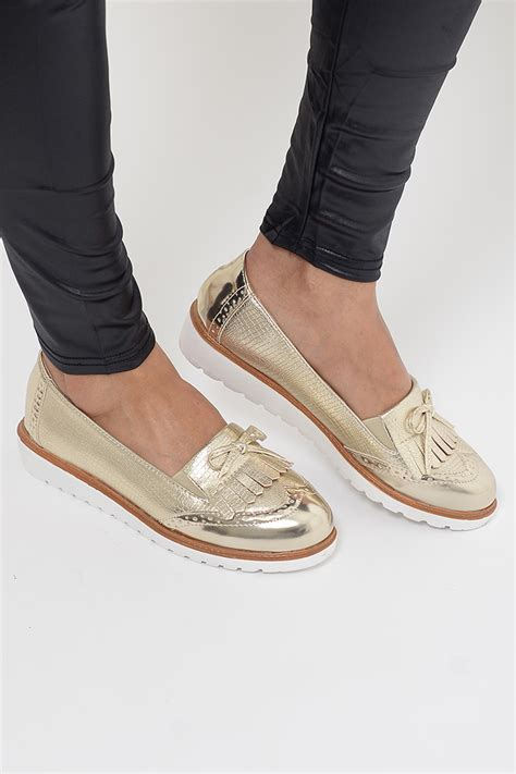 gold tassel loafers stylish gold tassel loafers stylish shoes flat shoes
