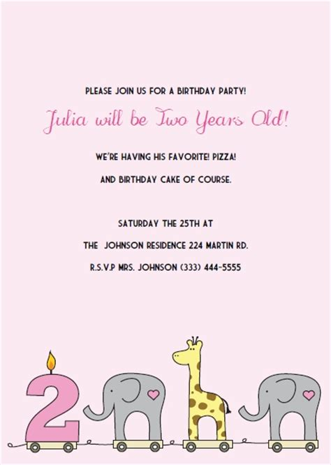 Printable 2nd Birthday Invitations Diy Print And Make Your Own 2nd Birthday Invitations Templates Free
