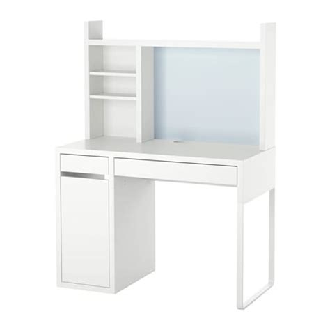 ikea desk with whiteboard micke workstation white 105x50 cm ikea