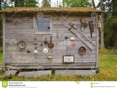 Homesteaders Cabin by Homesteader S Cabin Stock Photo Image 48725277