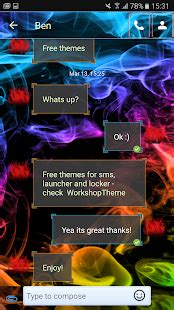 Play Store Themes Free Download | color smoke theme go sms pro android apps on google play