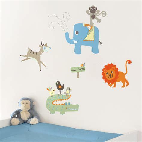 safari animal wall stickers jungle safari animals printed wall decals stickers graphics