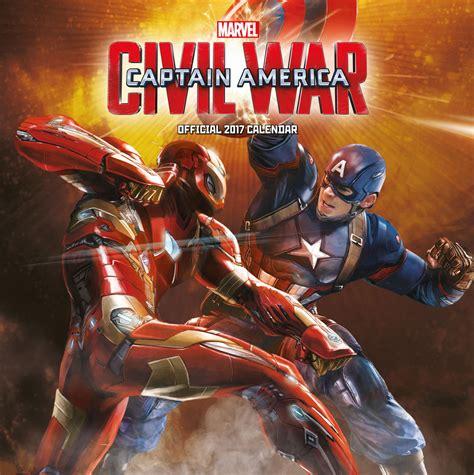 Calendar 2018 America Captain America Civil War Calendars 2018 On Abposters