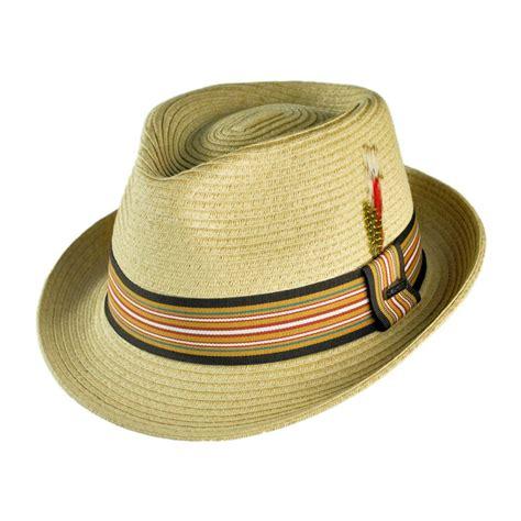 Hat L by Jaxon Hats Ridley Toyo Straw Trilby Fedora Hat Straw Fedoras