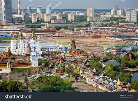 Mba Moscow W by Moscow Ismailovo Aerial View Kremlin Ismailovo Stock Photo