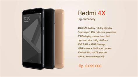 Harga Merk Xiaomi spesifikasi dan harga xiaomi redmi 4x quot made in indonesia
