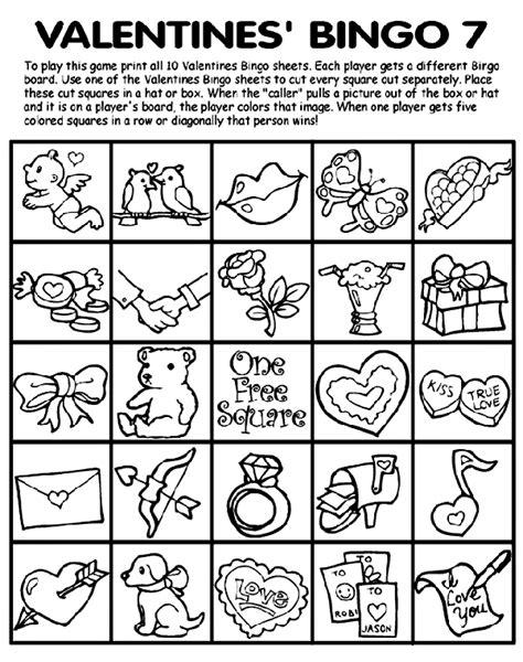 crayola coloring pages halloween bingo valentines bingo 7 coloring page crayola com
