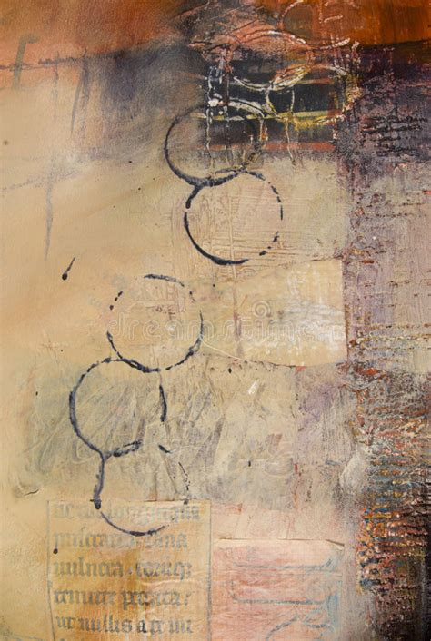 abstract section section of mixed media abstract painting stock photo
