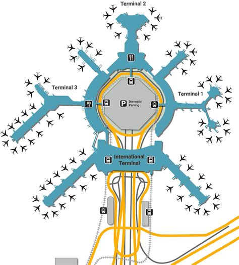 san francisco airport map united sfo airport up and drop