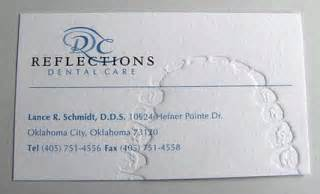 creative dentist business cards chomp effective use of embossing for dentist business