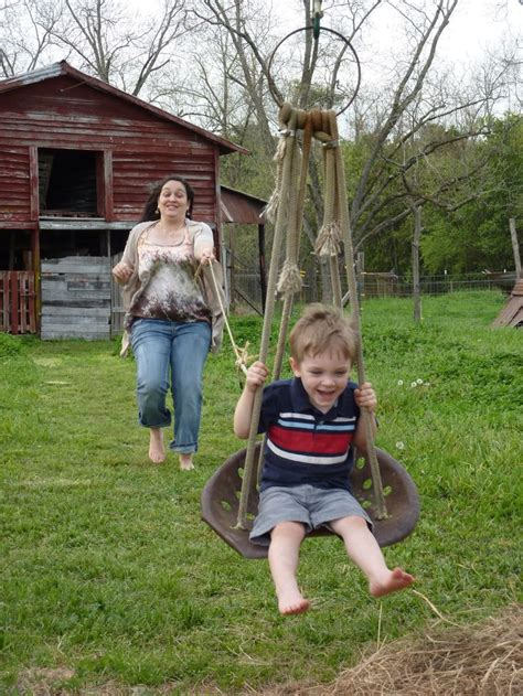 zip line swing repurposed tractor seat becomes swing or zip line chair