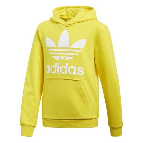 Trefoil Hoodie adidas originals junior trefoil hoodie yellow white