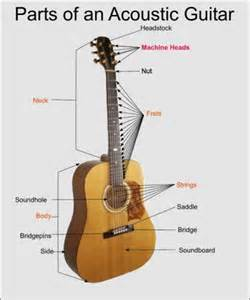 labelled diagram of a guitar images