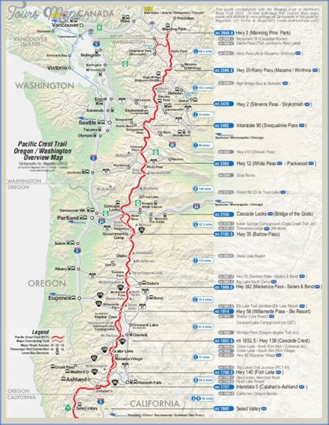 pacific crest trail washington sections pacific crest trail map washington toursmaps com
