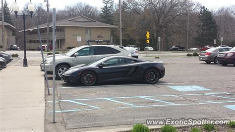 mclaren mp4 12c spotted in east lansing michigan on 04 29