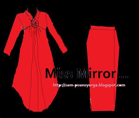 Baju Raya Sari fesyen baju raya 2012 miss mirror