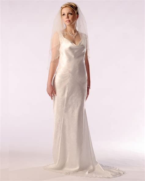 trim for wedding dresses cowl neck bias cut bridal gown dancedress