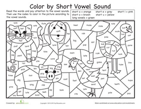 coloring pages for vowels color by short vowel sound vowel sounds short vowels