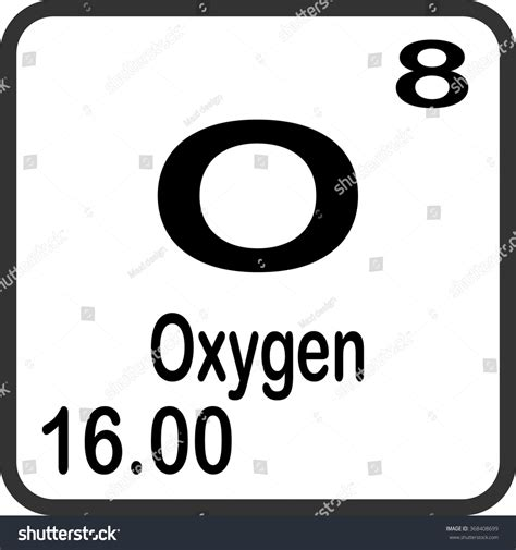 what is oxygen on the periodic table periodic table elements oxygen stock vector 368408699