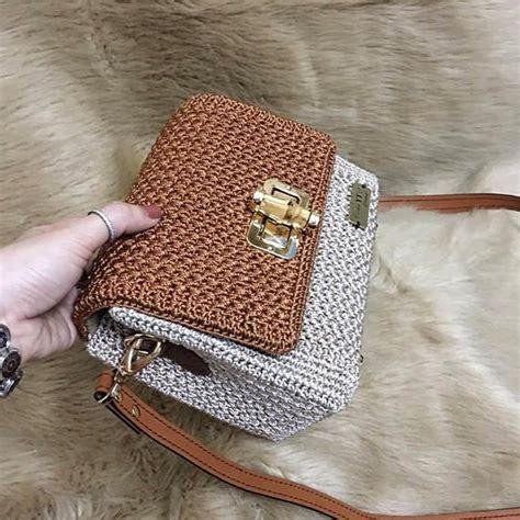 Slingbag Trico ganchillo hecho a mano hermoso bolso de satchel regalo