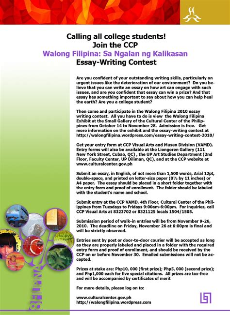 Asia Writes Essay Competition by Walong Artists Tribute To Environmentalists
