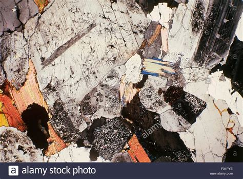 orthoclase in thin section granite orthoclase plagioclase quartz and biotite