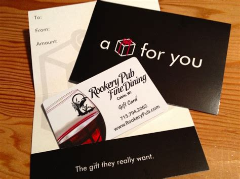 Where Can I Buy Restaurant Gift Cards - gift cards rookery pub fine dining