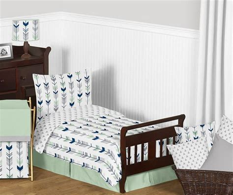 grey toddler bedding mod arrow gray navy mint toddler bedding set by sweet