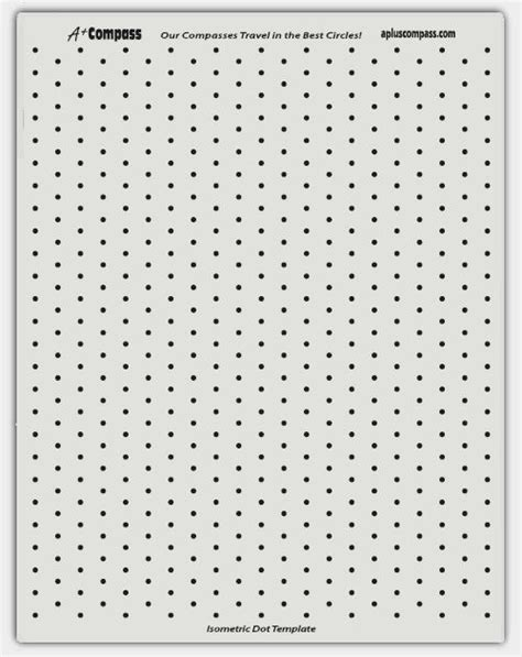 dot template isometric dot paper template