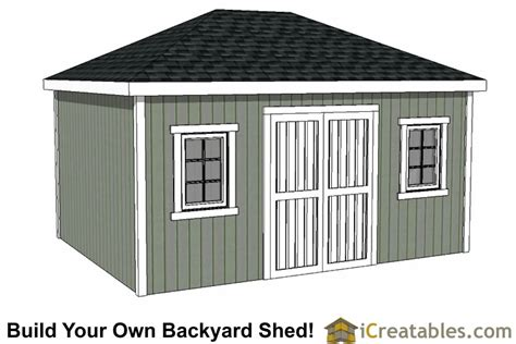 hip roof shed plans