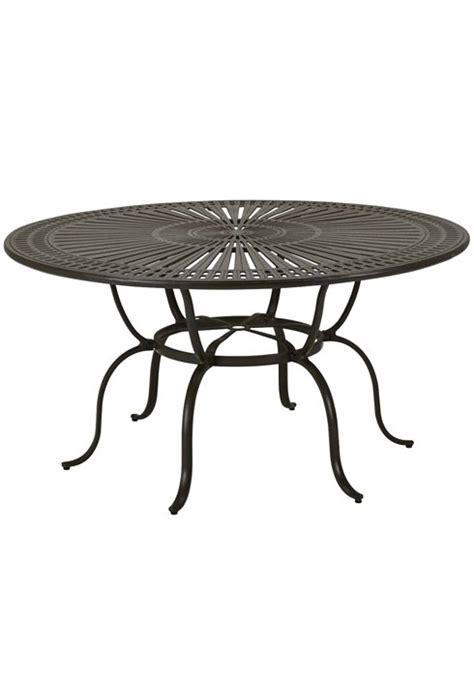 Tropitone Patio Table 66 Kd Dining Umbrella Table Spectrum Cast Aluminum Dinette Patio Furniture