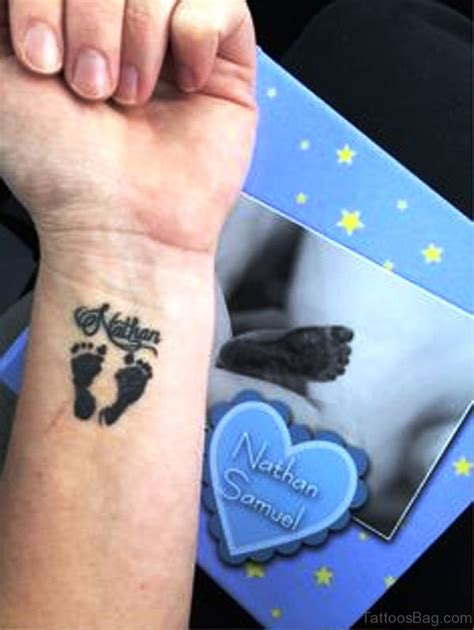 19 adorable baby footprint tattoos on wrist