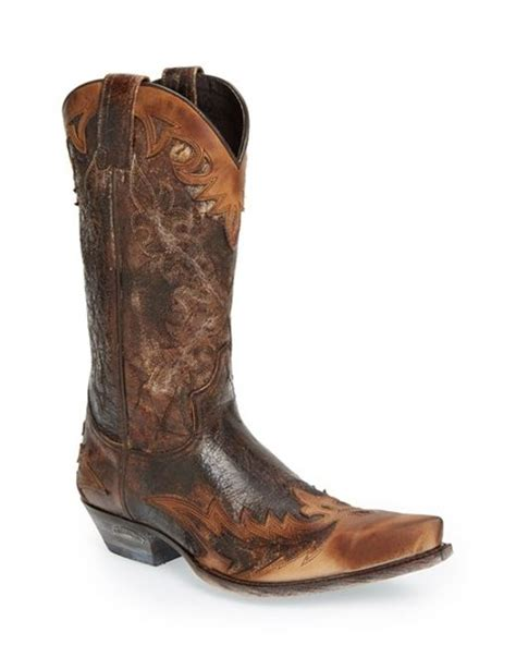 sendra carson cowboy boot in brown for lyst